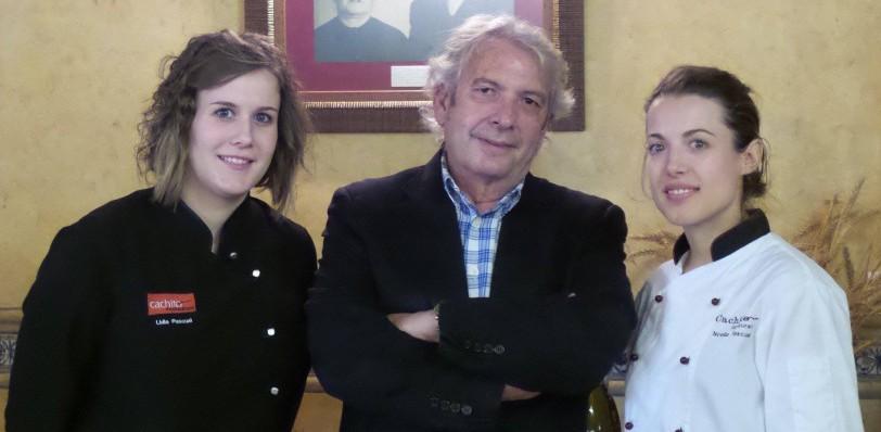Noelia Pascual y Lidia con Pedro Nuño en Restaurante Cachito