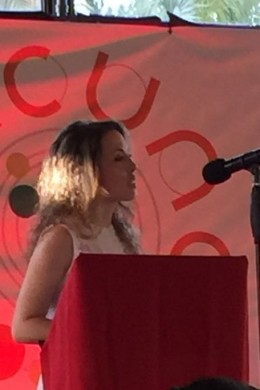 Noelia Pascual en el discurso